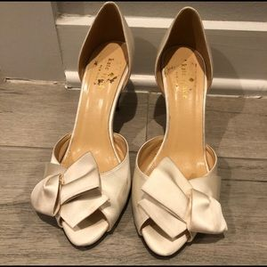 Kate Spade Glitter Heel D'Orsay Bridal Shoes